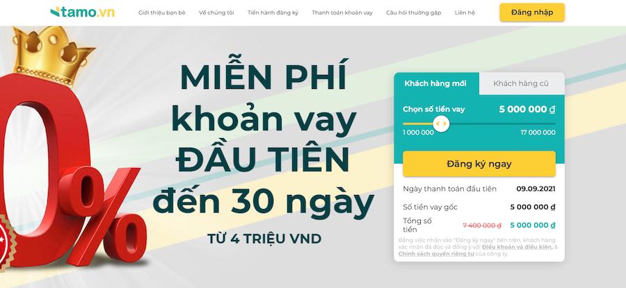 TAMO - Vay tiền online nhanh chóng & dễ dàng