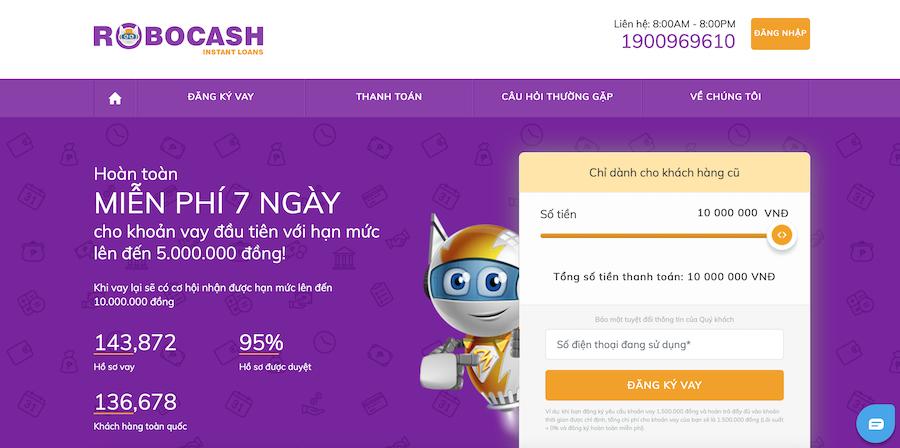 🎁  Robocash – Vay nhanh trực tuyến